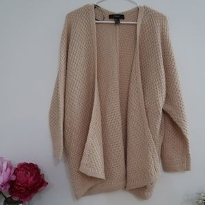 Blush Oversized Chunky Knitted Open Cardigan